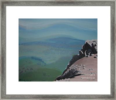 The Cliff Framed Print by Stan Levine