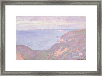 The Cliffs Near Dieppe, 1897  Framed Print by Claude Monet