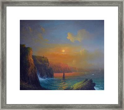 Ireland The Cliffs Of Moher  Framed Print by Joe Gilronan