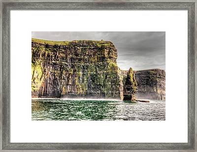 The Cliffs Of Moher Framed Print by Natasha Bishop