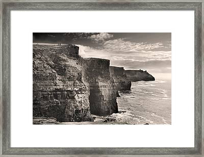 The Cliffs Of Moher Framed Print by Robert Lacy