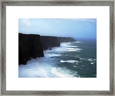 The Cliffs Of Mohr Ireland Framed Print by Richard Singleton