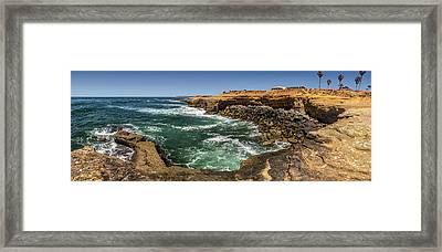 The Cliffs - Point Loma Framed Print