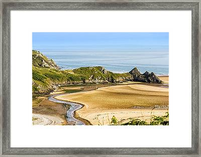 The Cliff's Framed Print
