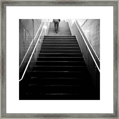 The Climb Framed Print by Henry Lohmeyer