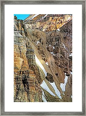 The Climb To Abbot's Hut Framed Print by Steve Harrington