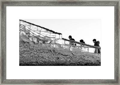 Framed Print featuring the photograph The Climbers by John Williams