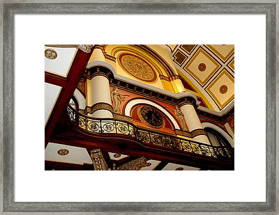 The Clock In The Union Station Nashville Framed Print by Susanne Van Hulst