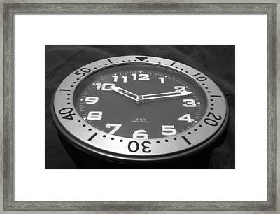 The Clock Framed Print by Rob Hans