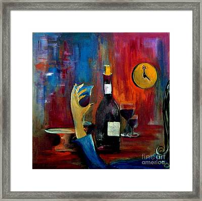 The Clock Strikes Happy Hour Framed Print