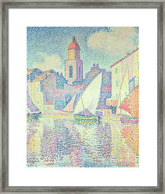 The Clocktower At St Tropez, 1896  Framed Print