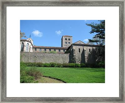 The Cloisters Castle Framed Print by Hasani Blue