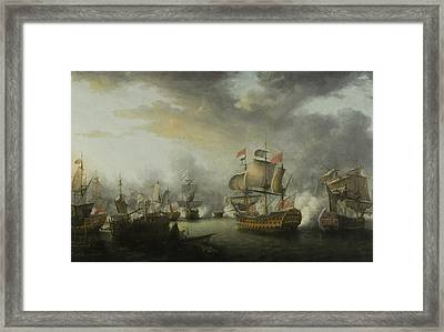 The Close Of The Battle Of The Saints Framed Print