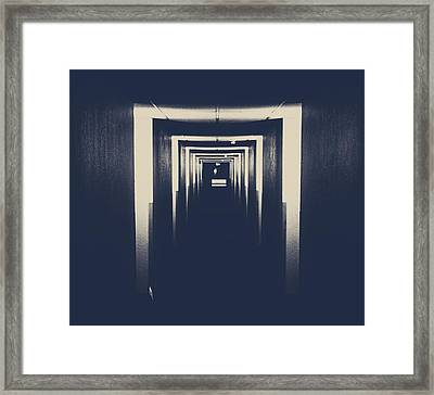 The Closed Doors Framed Print by Empty Wall