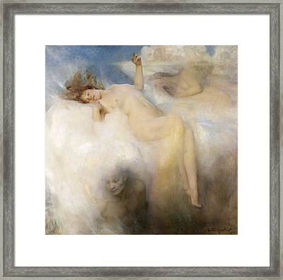 The Cloud Framed Print by Arthur Hacker