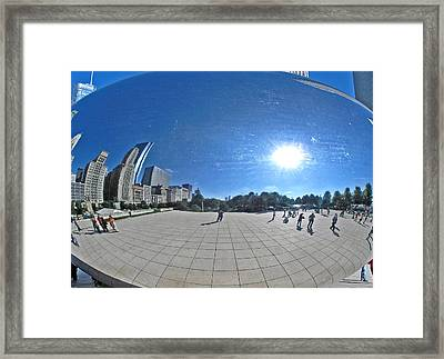 The Cloud Gate In Chicago Framed Print