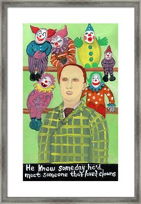 The Clown Collector Is Single Framed Print