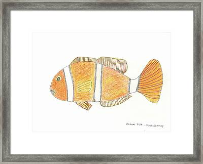The Clown Fish Framed Print