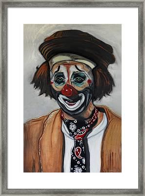 The Clown Framed Print by Joachim G Pinkawa