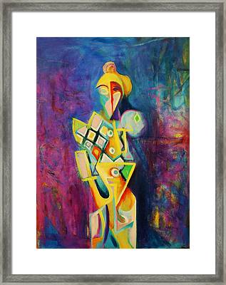 Framed Print featuring the painting The Clown by Kim Gauge
