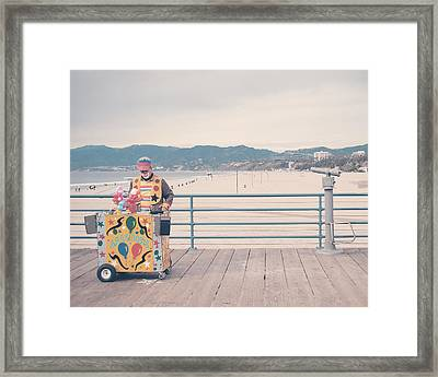 The Clown Framed Print by Nastasia Cook