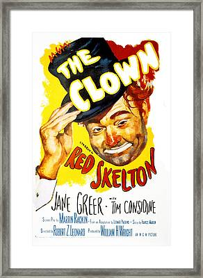 The Clown, Red Skelton, 1953 Framed Print