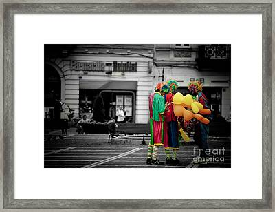 The Clown's Conspiracy Framed Print
