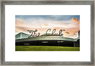 Framed Print featuring the photograph The Club Panorama by Parker Cunningham