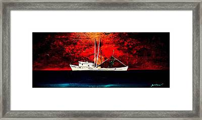 The Clyde Phillips At Sea Framed Print by Barry Knauff