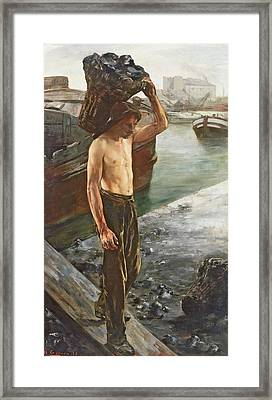 The Coal Carrier Framed Print