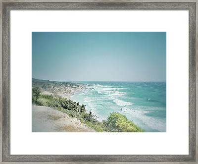 The Coast Is Clear Framed Print