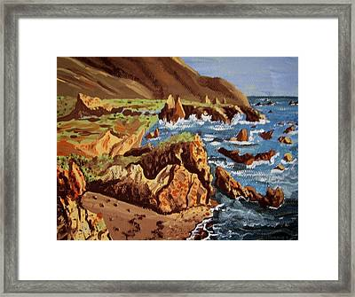 Framed Print featuring the painting The Coast by Judy Via-Wolff