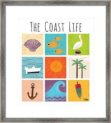 The Coast Life Framed Print by Kevin Putman
