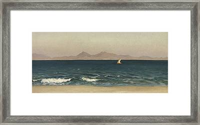 The Coast Of Asia Minor Framed Print by Frederic Leighton