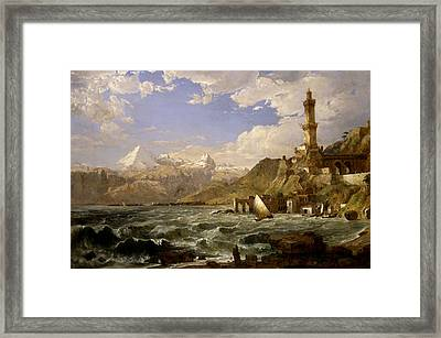 The Coast Of Genoa Framed Print by Jasper Francis Cropsey