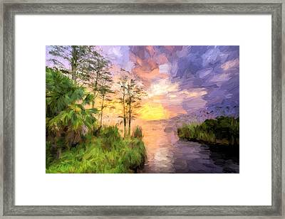 The Coast Of Perdido Bay Framed Print by JC Findley