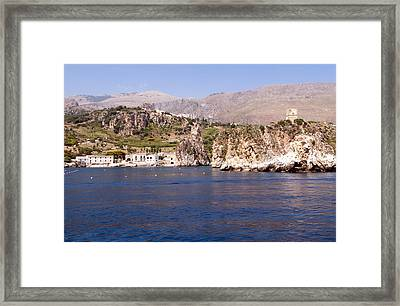 The Coast Of Zingaro Reserve Framed Print by Focus  Fotos