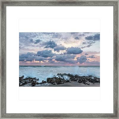 The Coastline In Jupiter, Florida Framed Print