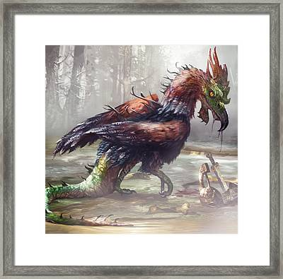 The Cockatrice Framed Print by Ryan Barger