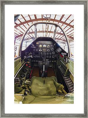 The Cockpit Of A P-51 Mustang Framed Print by Rob Edgcumbe