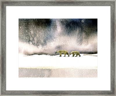 The Cold Walk Framed Print by Paul Sachtleben