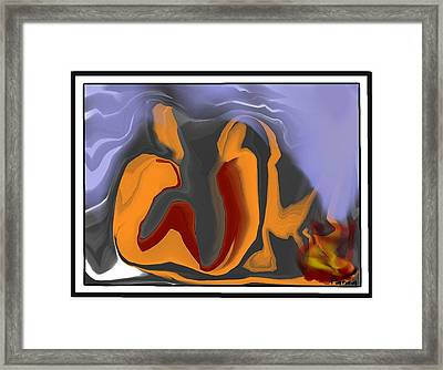 The Cold Wave Framed Print