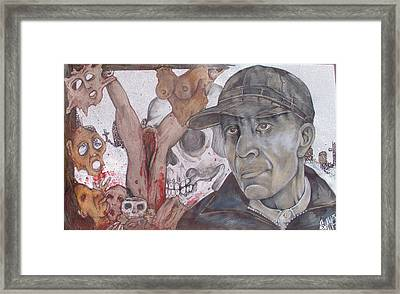 The Cold World Of Ed Gein Framed Print by Sam Hane