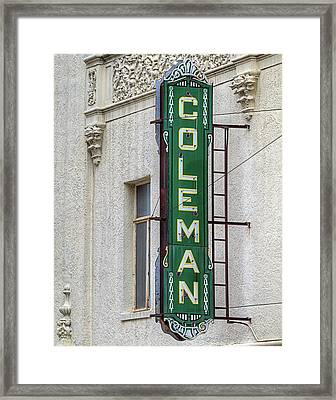 The Coleman Theater Framed Print by JC Findley