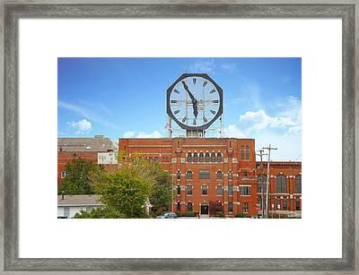 The Colgate Clock  Framed Print