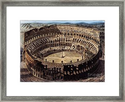 The Coliseum, Rome, 1820 Framed Print by Wellcome Images