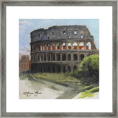 The Coliseum Rome Framed Print by Anna Rose Bain