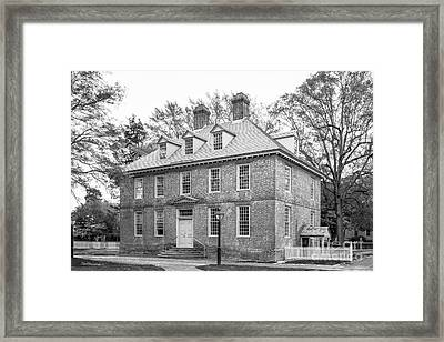 The College Of William And Mary Brafferton Building Framed Print by University Icons