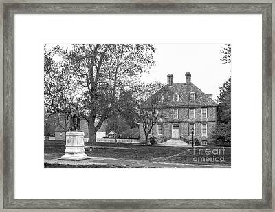 The College Of William And Mary President's House Framed Print by University Icons