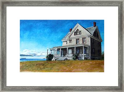 The Colonel's House Framed Print by Perry Woodfin